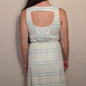 Lace Dress with Mint/Sea Foam Green Liner